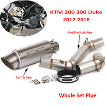 For KTM 200 390 Motorcycle Exhaust System Muffler Silencer Connect Link Tube Pipe Slip on for KTM 200 390 20012-2016 цена