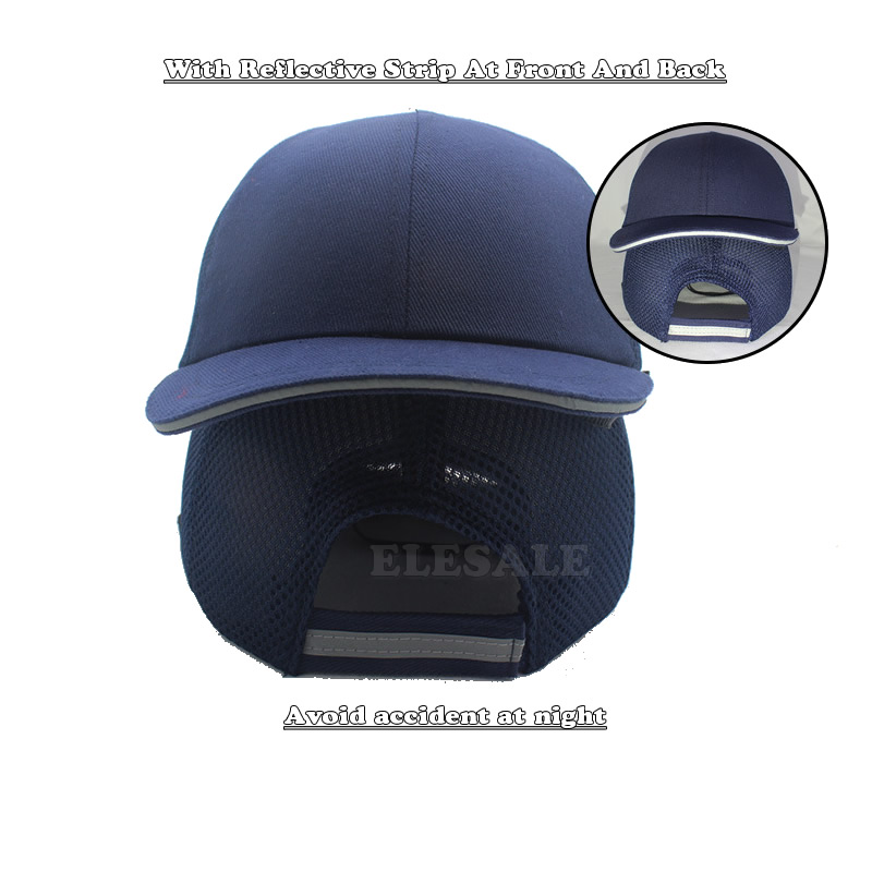 Summer Work Safety Hi-Viz Bump Cap Helmet Baseball Hat Style Protective Hard Hat For Work Factory Shop Carrying Head Protection