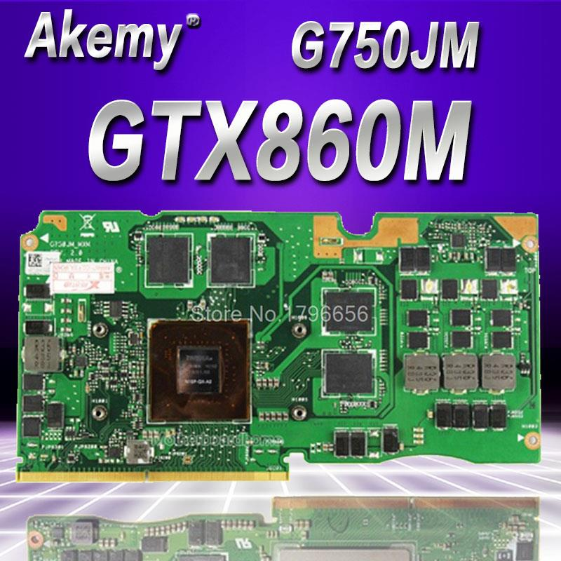 Akemy N15-GX-A2 VGA For ASUS G750J GTX860M laptop Graphics card ROG G750J GeForce GTX860M with 2GB GDDR5 Test originalAkemy N15-GX-A2 VGA For ASUS G750J GTX860M laptop Graphics card ROG G750J GeForce GTX860M with 2GB GDDR5 Test original
