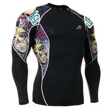 Original Prints Men s Tops Compression Long Sleeves Shirts New 3D Workout Fitness T Shirts Multiuse