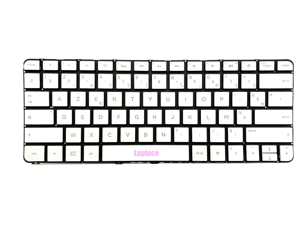 New French Silver backlit keyboard for HP X360 spectre 13 4000 13 4100 13 4200