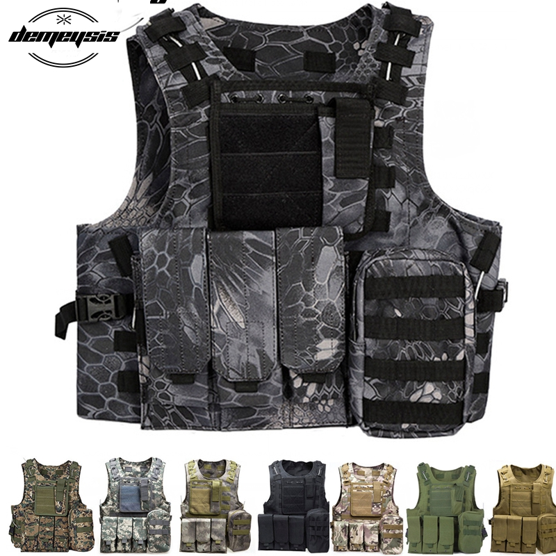 Kryptek Typhon 11 Colors Camouflage Hunting Military Tactical CS Outdoor Vest Wargame Body Molle Armor plate Hunting Vest-in Hunting Vests from Sports & Entertainment    1