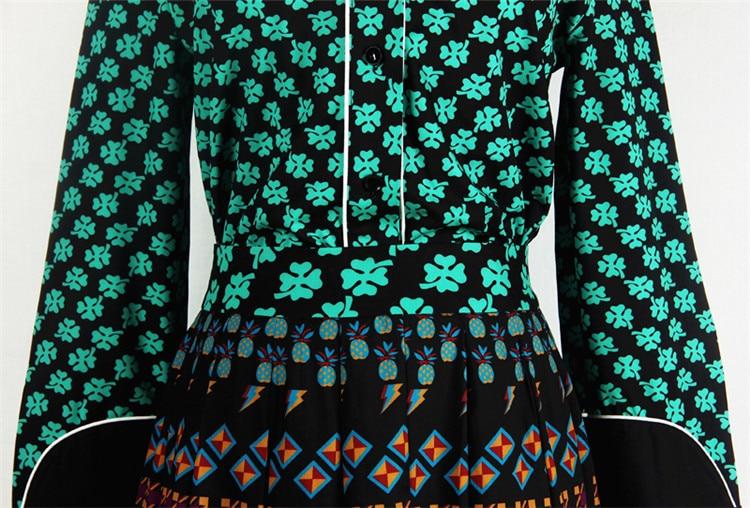 Été D Piste Plus High Imprimer La Manches Femmes Street Américain Exquis Revers Nouveau Longues Printemps Et Taille Slim À Européen Femelle 2018 15HUqU