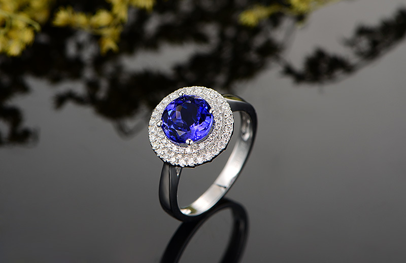 2 carat pure 925 silver ring sapphire jewelry tanzanite man made diamant ring for women US size from 4.5 to 92 carat pure 925 silver ring sapphire jewelry tanzanite man made diamant ring for women US size from 4.5 to 9