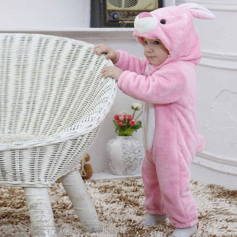 SAILEROAD lindo dibujos animados conejo franela kigurumi pijamas de bebé niños niñas animales monos bebé recién nacido Onesies conjuntos