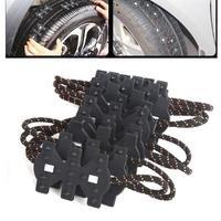 Vehemo 76x10 cm Anti Skid Neve Lama Cadeia Universal Carro Pneu De Caminhão Roda Cinta Empate Acessórios Engrossado nylon corda + Plástico