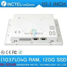 Сенсорный экран Все в одном pc настольный компьютер с Белым Цветом 1037u процессор Windows linux 4 Г RAM 120 Г SSD