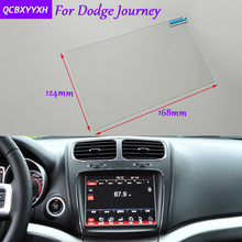 Car Sticker 8.4 Inch GPS Navigation Screen Glass Protective Film For Dodge Journey Accessories Control of LCD Screen Car Styling