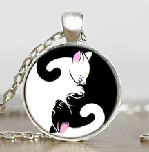 JP Anime Sailor Moon Yin and yang cat Mens chain Handmade New Fashion brass Necklace silver Pendant steampunk Jewelry Gift women