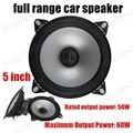 Envío gratuito super calidad 5 pulgadas de rango completo de altavoces del automóvil altavoz de audio estéreo 2x60 W subwoofer caliente venta