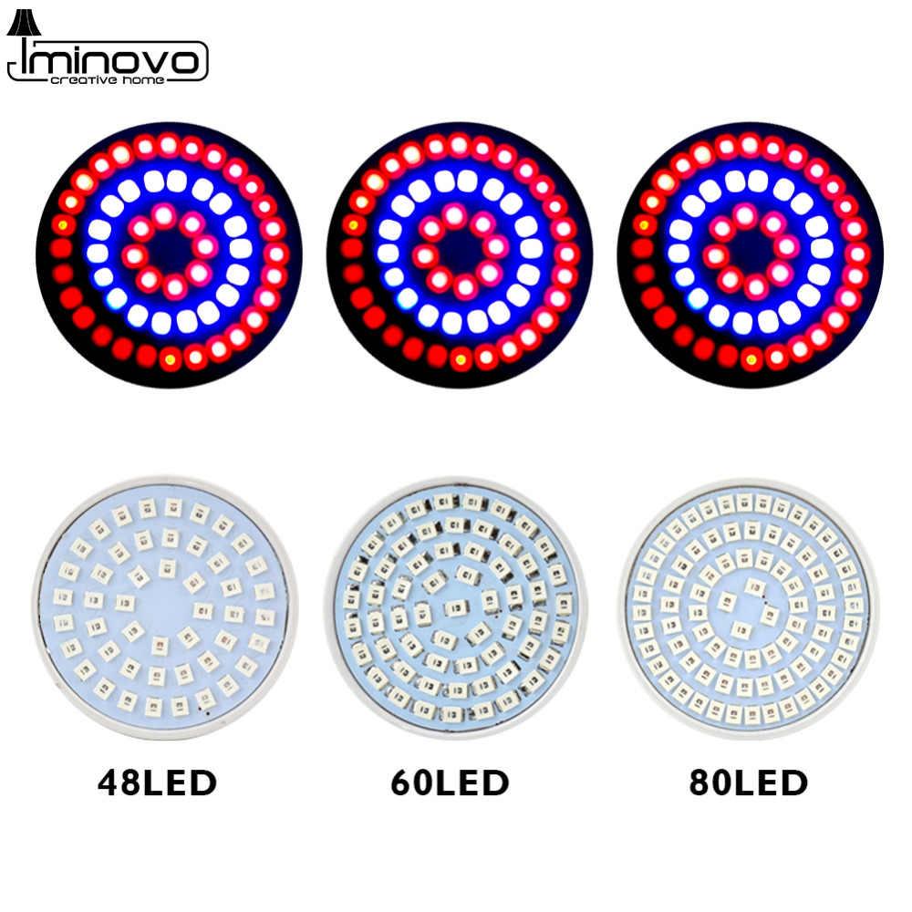 Pełne spektrum ze świetlówek kompaktowych ze scaloną elektroniką zasilanych prądem zmiennym (oświetlenie LED do uprawy Lampada E27 E14 MR16 GU10 110V 220V lampa do roślin domowych kwitnienia System hydroponiczny IR UV ogród