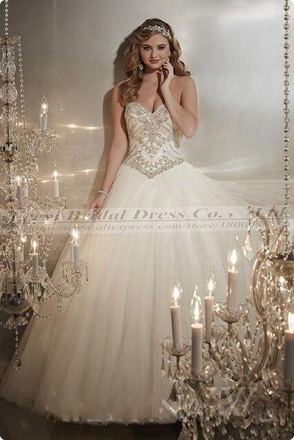 Elegant Swarovski Crystal Wedding Dress Ball Gown Luxury Bling Pnina ...