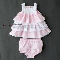 Nowy 2015 lato styl ubierania dziewczynek ubrania vestido infantil kamizelka ciasto księżniczka sukienka + spodenki garnitur odzież dla dzieci zestawy