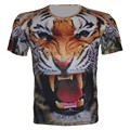 2016 Summer New Children 3D Animal T Shirt Boy Girl Sport T-Shirt tiger wolf lion panda Print Brand Design Tops. fit 95cm-155cm