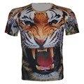 2016 niños del verano nuevos 3D Animal camiseta de la muchacha del deporte camiseta wolf tiger lion panda imprimir Tops diseño de marca. fit 95 cm - 155 cm