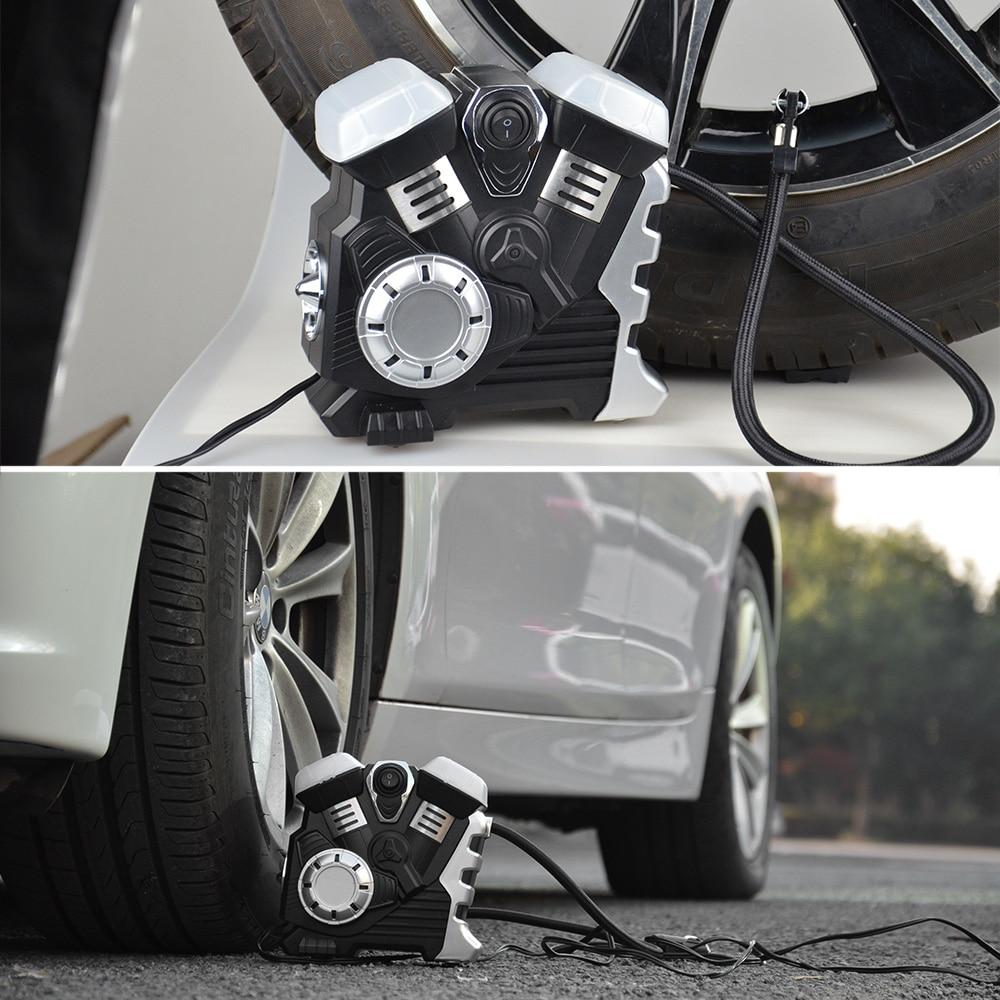 Image 5 - Автомобильный воздушный компрессор постоянного тока 12 В, портативный насос, насос для шин, светодиодный, цифровой дисплей, до 150 фунтов/кв. дюйм, для автомобиля, велосипеда, внедорожника, лодки-in Воздушный насос from Автомобили и мотоциклы on AliExpress - 11.11_Double 11_Singles' Day