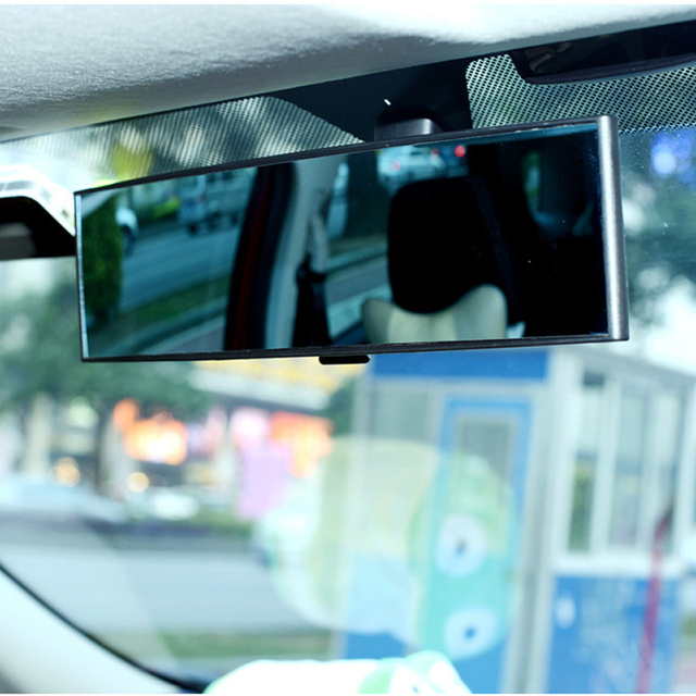 General Car Rearview Mirror Planar Large Sucker Interior Baby Reversing Wide Angle HD Curved Mirror 1PC 1