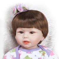 20 силиконовая новорожденных Reborn малыша Куклы для Обувь для девочек, реальные Reborn младенцев Куклы силиконовые реалистичные куклы с красиво