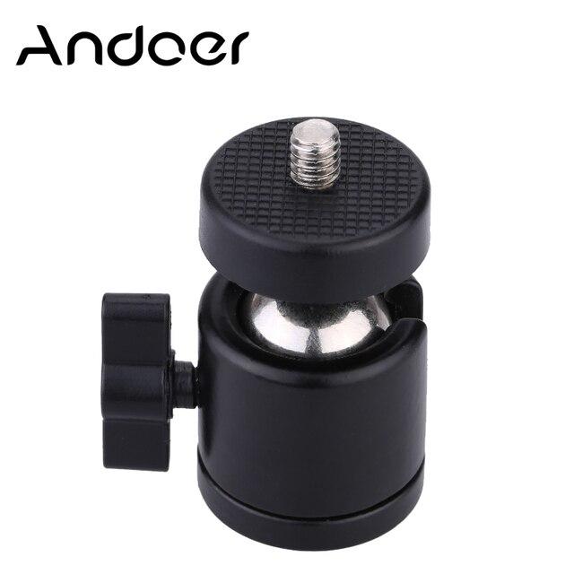 """Original Mini Ball Head 1/4"""" Mount for Camera Tripod for SB800 SB900 580EX II vidicon Flash"""