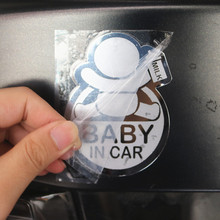Car Styling 3D 9.2*6.8CM BABY IN CAR Cool Rear Reflective Sunglasses
