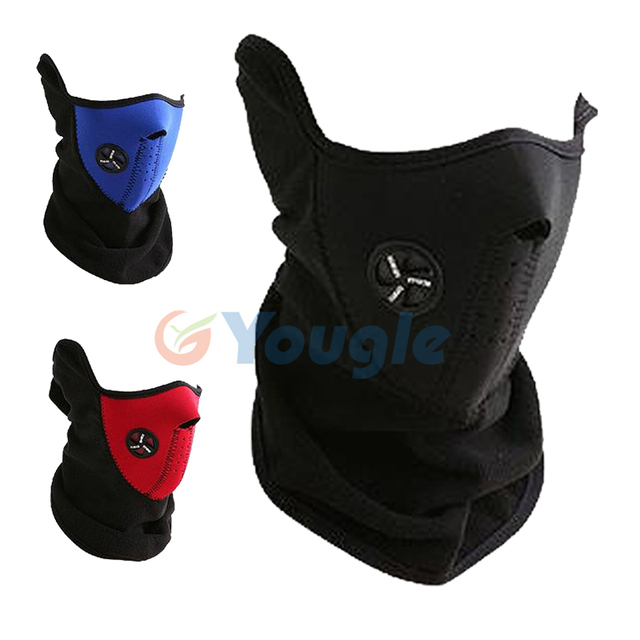 Winter Unisex Ski Snow Cycling Motorcycle Bike Half Face Mask Cover Neck Guard Scarf