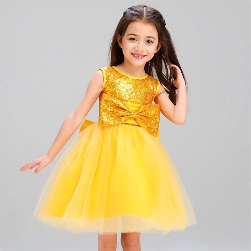 Платья золотые для девочки