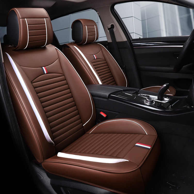Deri araba koltuğu kapakları otomatik yastık paspasları araba aksesuarları benz mercedes w110 w114 w115 w123 t123 w124 t124 w210 w460 B250