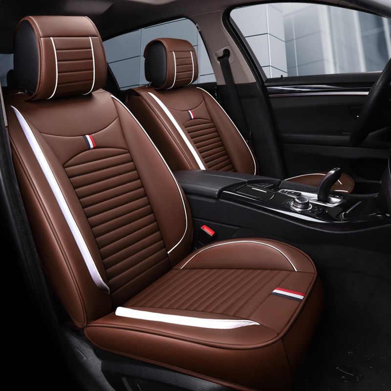 Siège de voiture en cuir couvre auto coussin tapis accessoires de voiture pour benz mercedes w110 w114 w115 w123 t123 w124 t124 w210 w460 B250