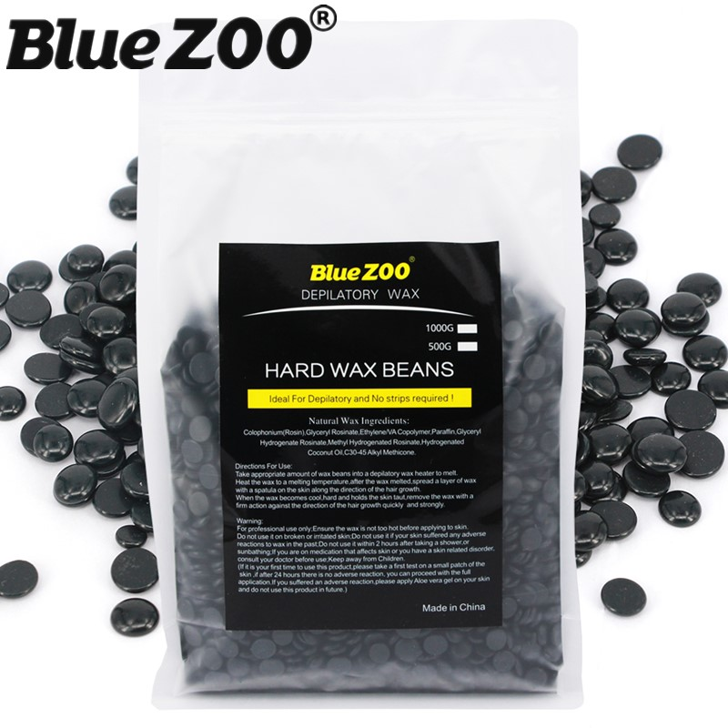 Hot Deal Black Color Pearl Wax Beads Painless Hair Remover Cream for Women/Men No Strips Hot Film Hard Wax Pellet 1000g/bag hot sale beads