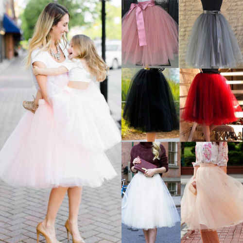 3f8980ef4 Detail Feedback Questions about Women Kids Girls Princess Tulle Tutu Skirts  Wedding Ball Gown Rockabilly Dance Skirt Family Clothes on Aliexpress.com  ...