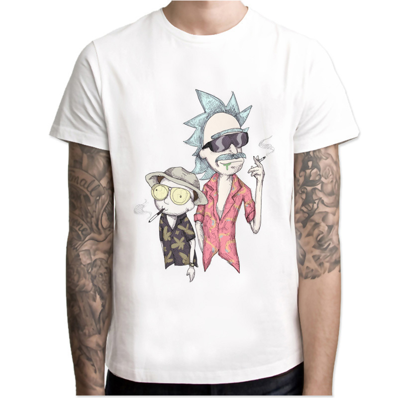 pickle rick   t  -  shirt   mens Rick and morty New Anime funny   t  -  shirt   Summer   T     Shirt   rick morty Cool Tshirts Tops Tees Homme