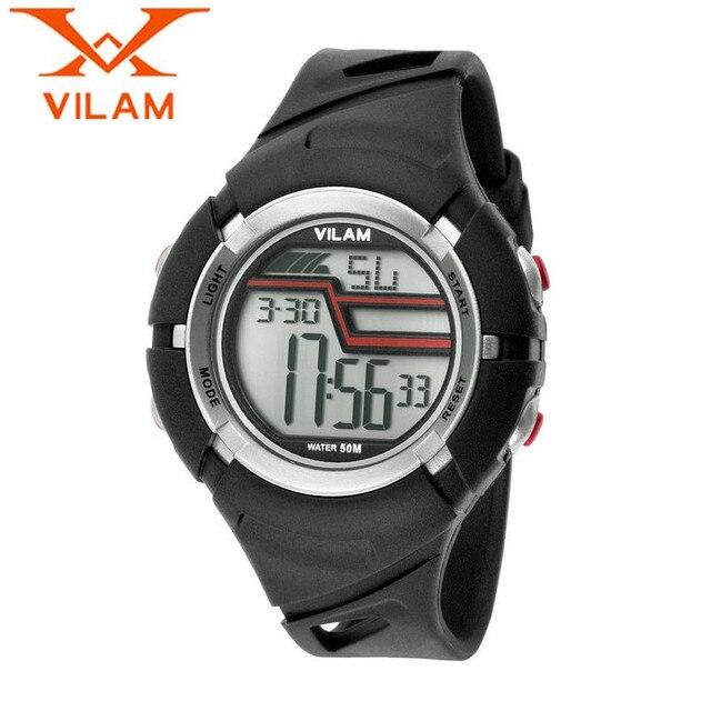 VILAM мужская Мода Полный Календарь Кварцевые Часы Резиновые Наручные Часы Спортивные Часы Подарок Бесплатные Корабль