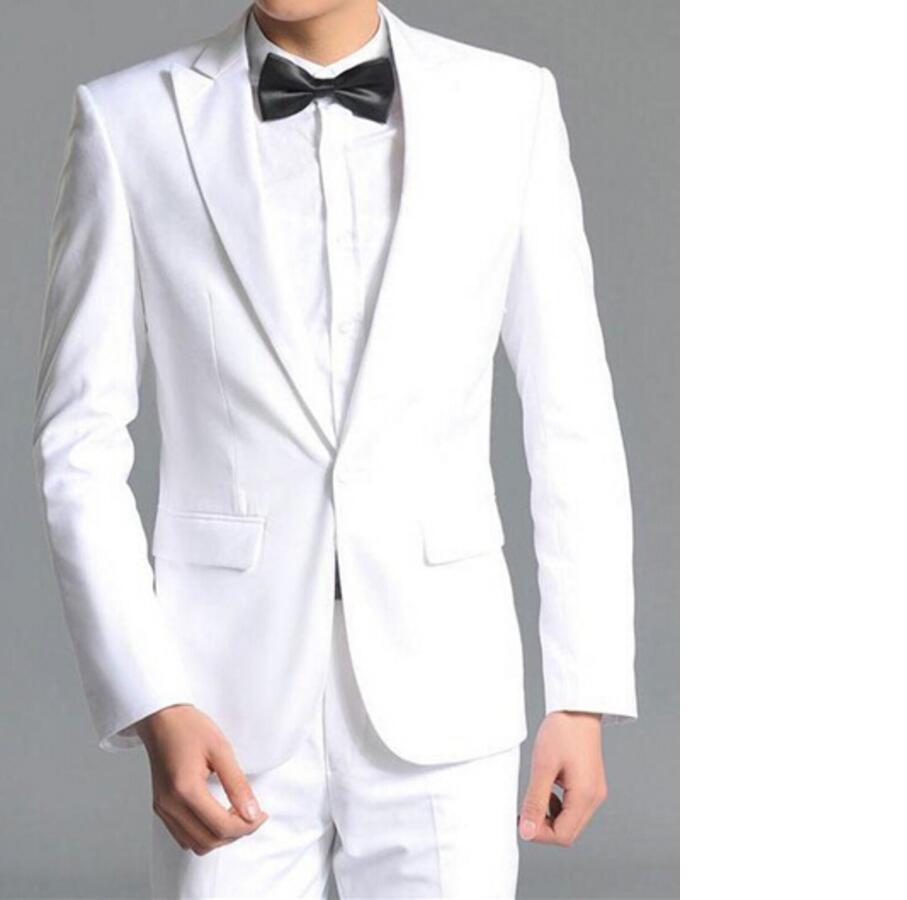 Φ_ΦNew Arrival Custom Made White Wedding Suits For Men Ivory Mens ...