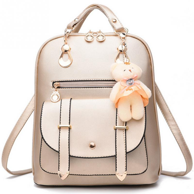 484b529e25 High Quality 2019 New Women Backpack Spring And Summer Students Backpack  Cute Girls Korean Style Backpacks With Bear Pendant-in Backpacks from  Luggage ...