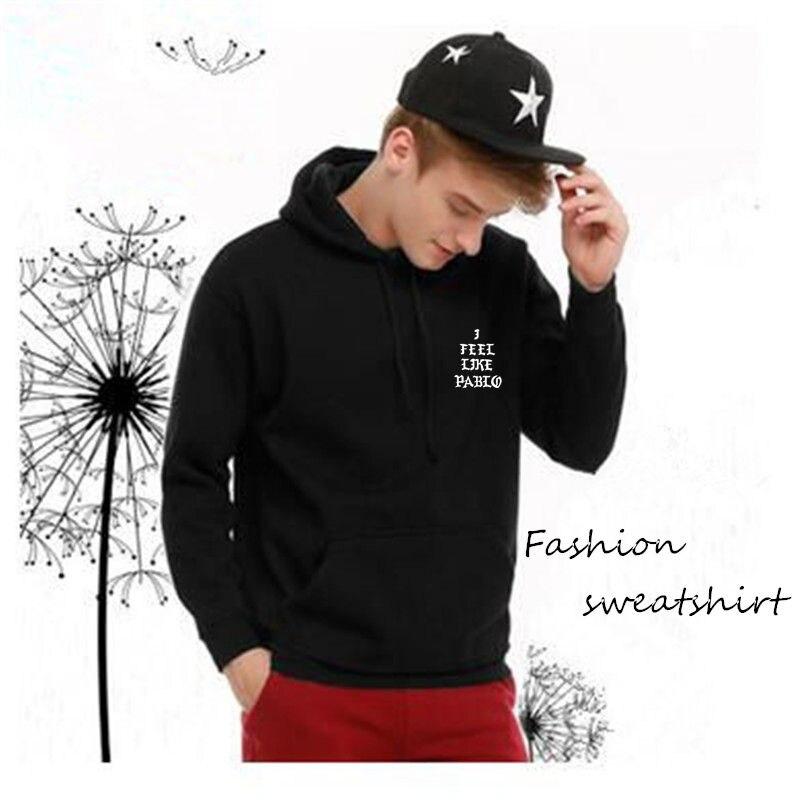 2019 Spring Hoodies Hooded Sweatshirts Men Hip Hop Lover Streetwear Red Letter Print Black Hoodies