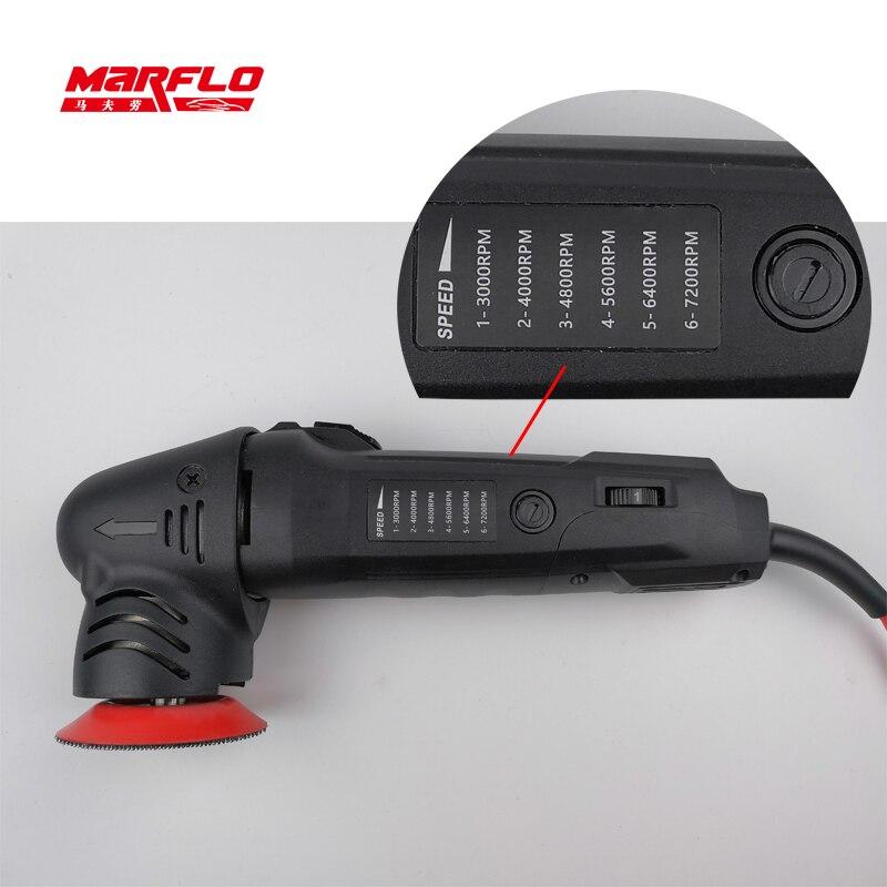 Image 4 - MINI polisseuse de voiture détaillant la Machine de polissage excentricité 80mm double Action polissage épilation outils 6 vitesses MarfloPolisseuse de voiture   -