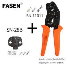 SN-11011+28b crimping pliers 0.25-2.5mm2 24-14AWG XH2.54/PH2.0/2510 SM plug tab terminals Self Adjustable Crimping Hand Pliers