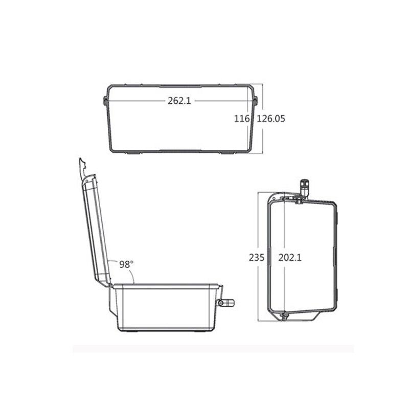 Купить с кэшбэком SQ2620 waterproof dustproof tool box hard plastic storm tool case with foam