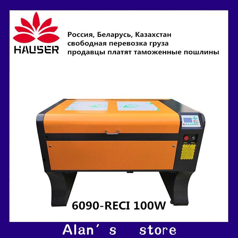HCZ9060 Ruida co2 laser gravadora RECI 100 w 6090 laser máquina de gravura 220 v/110 v máquina de corte a laser diy máquina de gravura do CNC