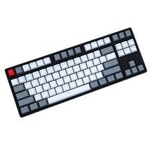 Gris blanc 87/104 touches Double-coup rétro-éclairé PBT keycap OEM profil MX commutateur pour cherry/NOPPOO/Flick/Ikbc vendre uniquement des keycaps