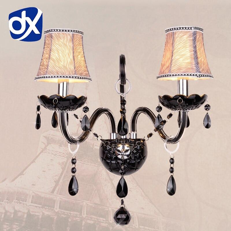 Black K9 Crystal Wall Lamp Bedroom Wall Lamp Cosmetic Lamp Crystal Black Crystal Sconce стоимость