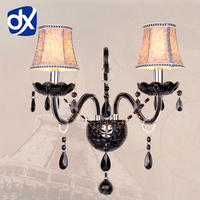 Black K9 Crystal Wall Lamp Bedroom Wall Lamp Cosmetic Lamp Crystal Black Crystal Sconce