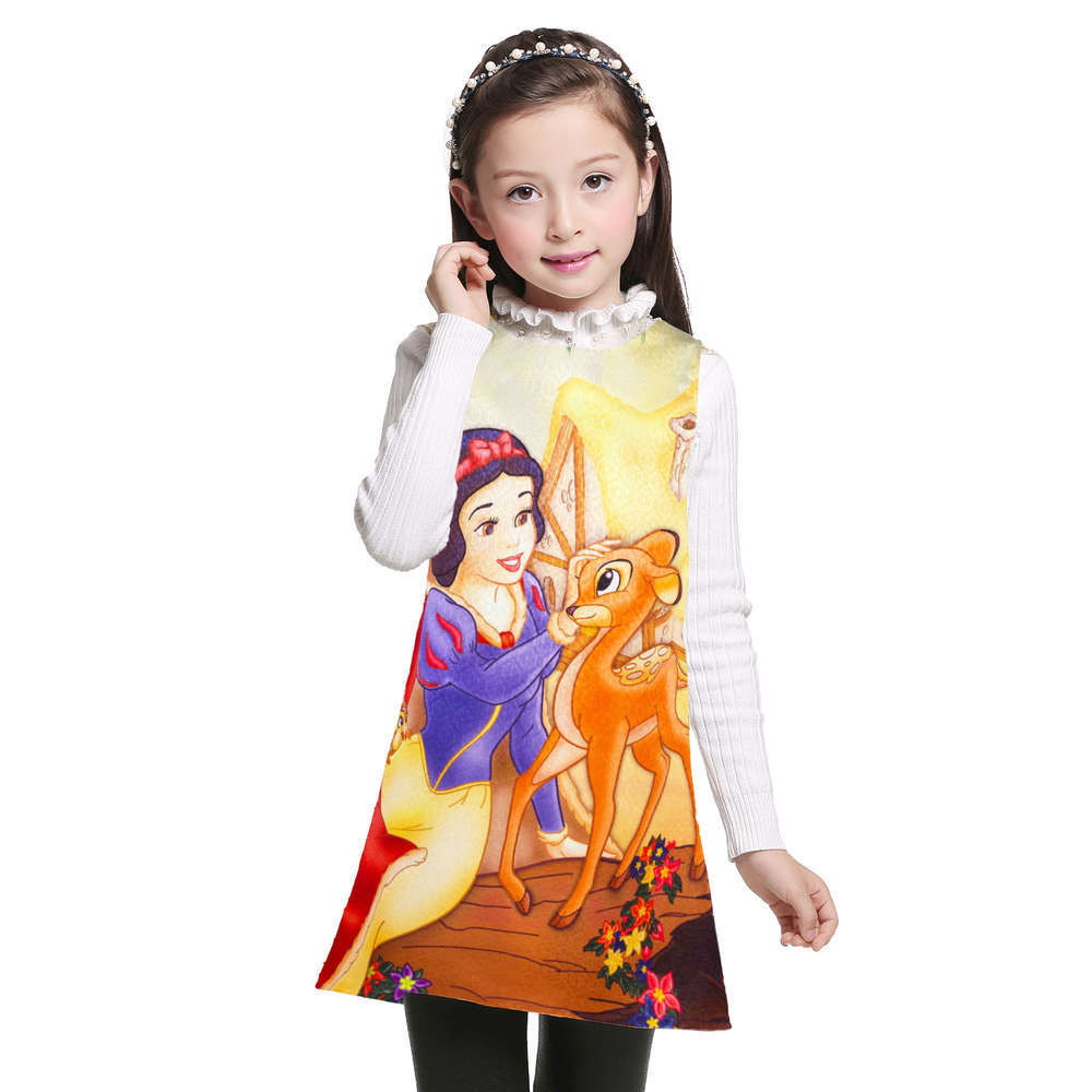 2017 Summer Girls Dress Snow White Dress Girls Party Dresses Children Dress Princess Costume For Kids Girls Clothes girls summer dress printed princess dress children costume for kids clothes baby dress