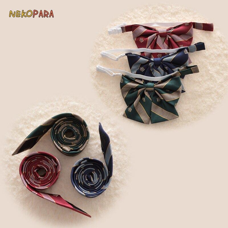 FäHig Neue Krone Stickerei Krawatte Hals Bogen Bowtie Nette Japanische Schule Mädchen Jk Einheitliche Student Jacquard Weben Krawatte Fortgeschrittene Technologie üBernehmen
