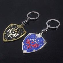 RJ модные ювелирные изделия легенда о Зельде брелок Высокое качество синий черный Zelda Hylian Shield брелок кулон для мужчин