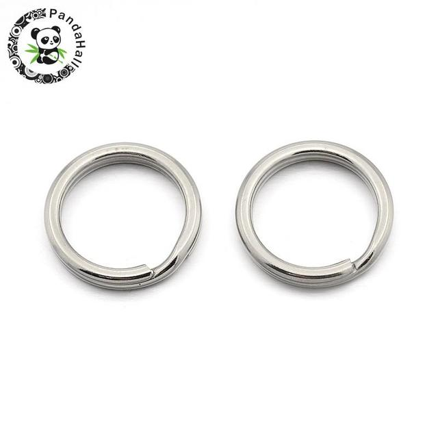 Original Color Double Loops 304 Stainless Steel Split Key Ring Clasps for Keychain Making, Stainless Steel Color, 20x1.8mm