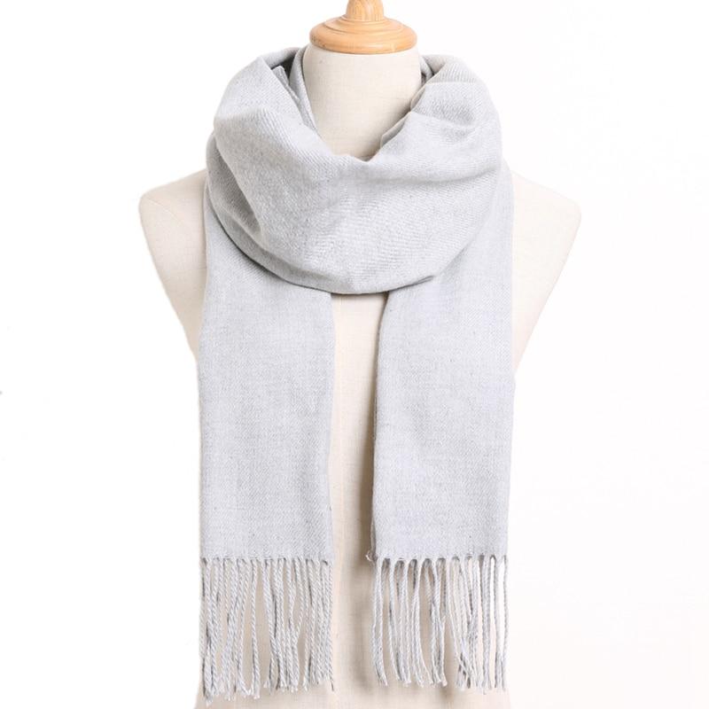 [VIANOSI] клетчатый зимний шарф женский тёплый платок одноцветные шарфы модные шарфы на каждый день кашемировые шарфы - Цвет: 57