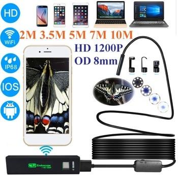 Leshp 1200 P HD Wireless USB Endoskop Kamera Mini Tahan Air Portable 8 Mm Lensa Ponsel Borescope untuk Ios Android PC 2/3. 5/5/7/10 M