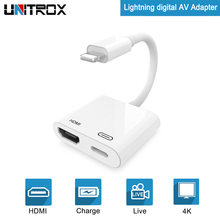 2018 новый для Lightning цифровой AV HDMI адаптер 4 К к USB кабель Разъем до 1080P HD для iPhone X/8 P/6/s/7/P p/iPad Air/iPod(China)