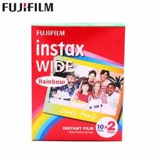 العلامة التجارية جديد فوجي فيلم Instax واسعة فيلم قوس قزح التوأم حزم (20 الصور) ل حظة كاميرا فوتوغرافية Instax 200 210 شحن مجاني
